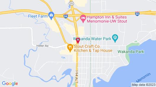 Super 8 by Wyndham Menomonie WI Map