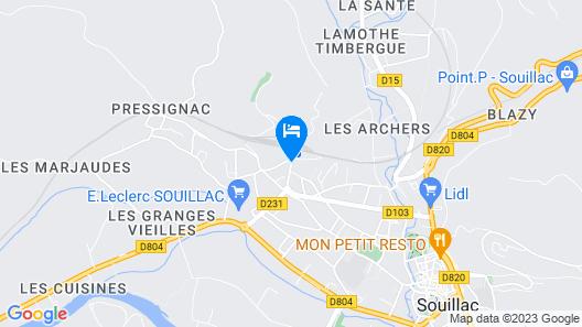 Hôtel Belle Vue Map