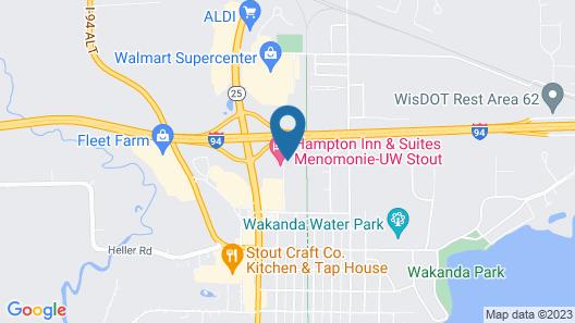 Motel 6 Menomonie, WI Map
