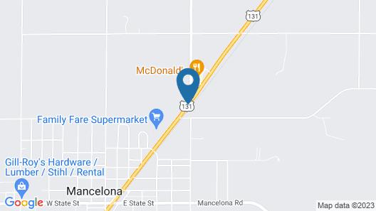 Mancelona Motel Map