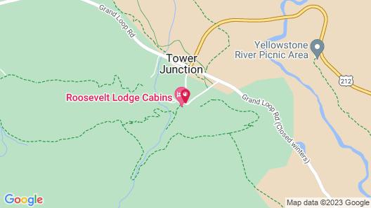 Roosevelt Lodge & Cabins - Inside the Park Map