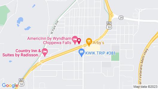 AmericInn by Wyndham Chippewa Falls Map