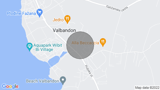 Villa Polion Valbandon Map
