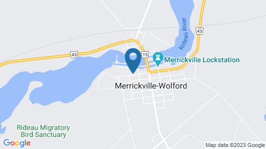 1840 Guest House B&B Merrickville Map