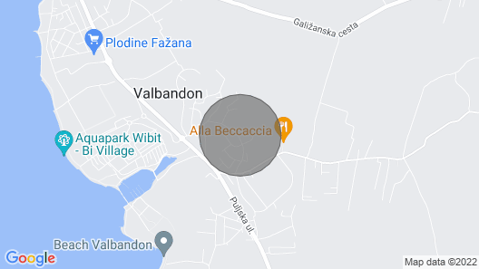 2 Bedroom Accommodation in Valbandon Map