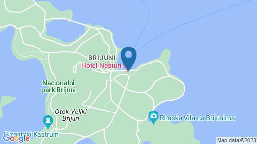 Brijuni Hotel Istra Map