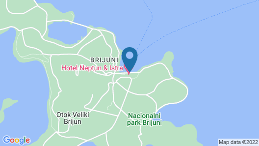 Brijuni Hotel Neptun Map