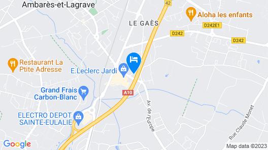 Kyriad Bordeaux Nord Sainte Eulalie Map
