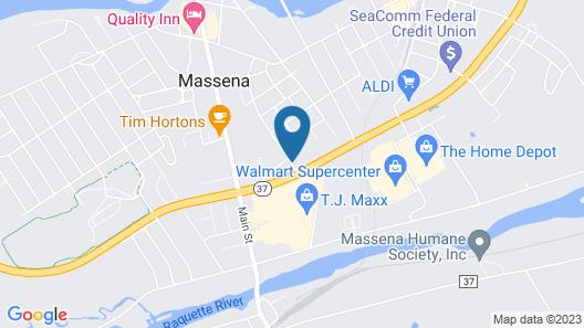 Super 8 by Wyndham Massena NY Map