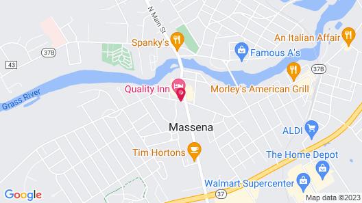 Quality Inn Massena Map