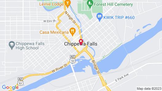 Cobblestone Hotel & Suites – Chippewa Falls Map