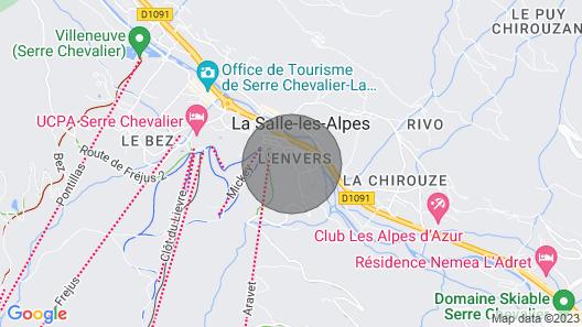 Rental Apartment Serre-chevalier Vallée 8 People Map