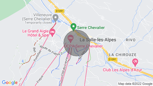 Apartment Serre Chevalier on the Slopes Map