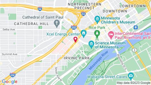 Hampton Inn & Suites Downtown St. Paul Map