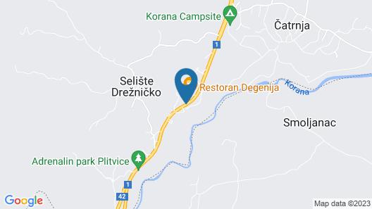 Hotel Degenija Map
