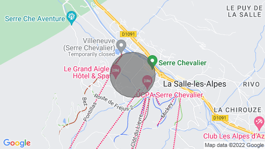 Lovely duplex flat facing the slopes in Serre Chevalier for 8 to 10 people  Map