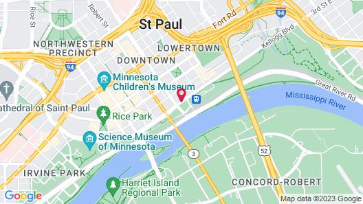 Hyatt Place St. Paul/Downtown Map