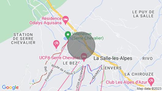 Apartment Serre Chevalier, Studio Flat, 4 Persons Map