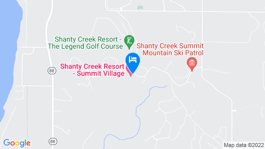 The Lakeview Hotel, Shanty Creek Resort Map