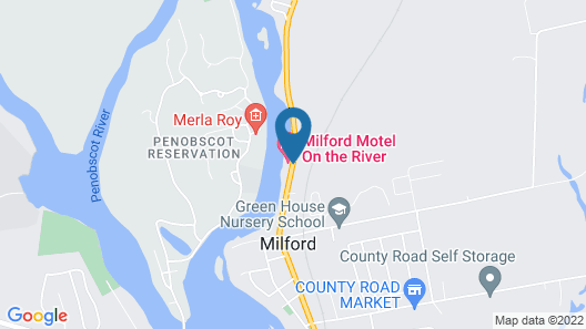 Milford Motel On The River Map