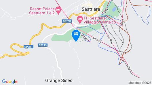 Hotel Principi di Piemonte Sestriere Map