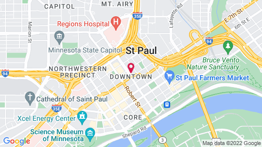 SpringHill Suites by Marriott St. Paul Downtown Map