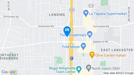 Comfort Inn and Suites Salem Map