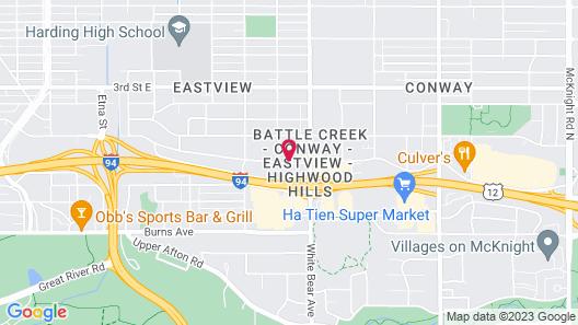 Motel 6 Saint Paul, MN - I-94 Map