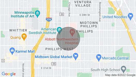 Full Kitchen+Lg Groups+1.5mi to Venues+Free Parking Map