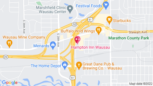 Hampton Inn Wausau Map