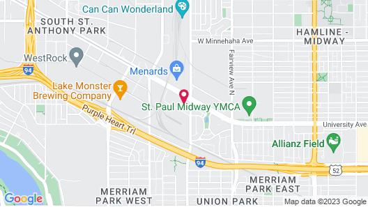 Quality Inn St. Paul-Minneapolis-Midway Map