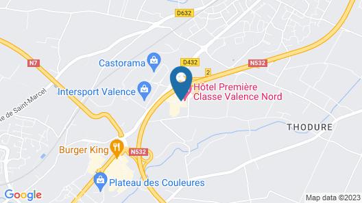 Premiere Classe Valence Nord - Saint Marcel-lès-Valence Map