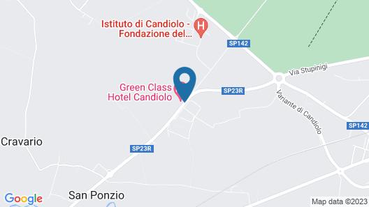 Green Class Hotel Candiolo Map