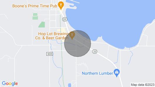 Cozy Suttons Bay Studio w/Fire Pit-Walk to Beach! Map