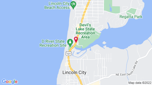 Comfort Inn & Suites Lincoln City Map