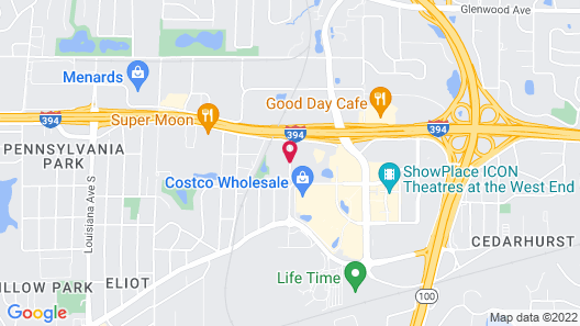 TownePlace Suites by Marriott -Minneapolis West/StLouis Park Map