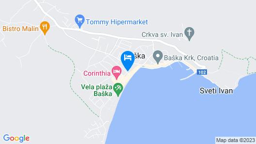Valamar Villa Adria Map