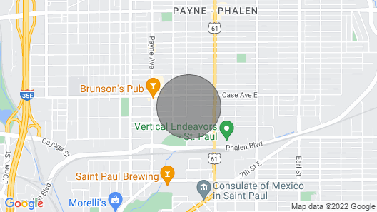 A Darling Vacation-4 Bedrooms Nestled in St. Paul Map