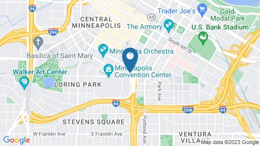Hilton Garden Inn Minneapolis Downtown Map