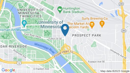 Hilton Garden Inn Minneapolis University Area Map