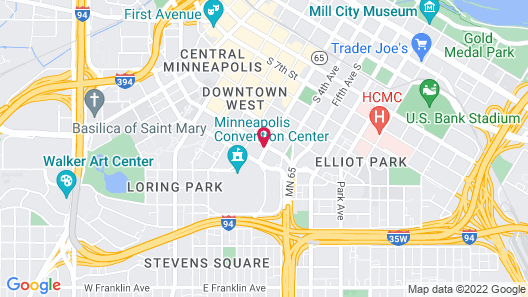 Holiday Inn Express Hotel & Suites Downtown Minneapolis, an IHG Hotel Map