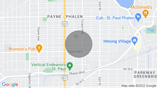 The Swahili Home - 10min to dwntwn St. Paul Map
