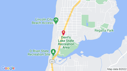 Americas Best Inns & Suites-lincoln City Map
