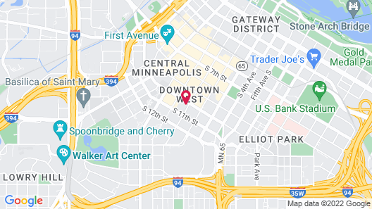 Mint House CBD Minneapolis Map