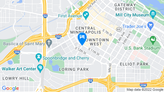 DoubleTree Suites by Hilton Minneapolis Downtown Map
