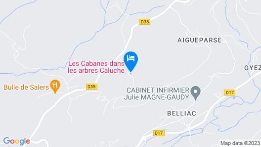 Cabane dans les Arbres Caluche Cantal Map