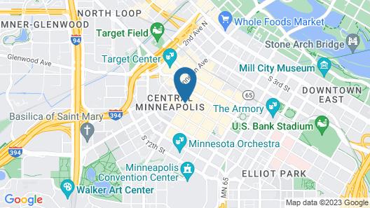 Residence Inn By Marriott Minneapolis Downtown Map
