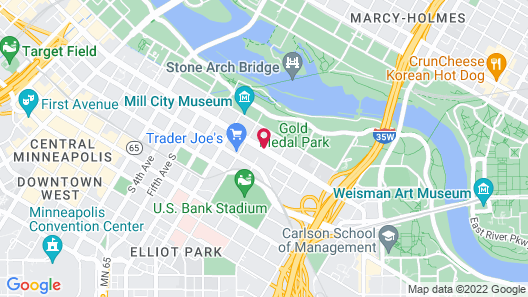 Aloft Minneapolis Map