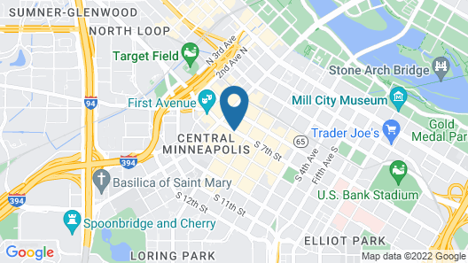 Radisson Blu Minneapolis Downtown Map