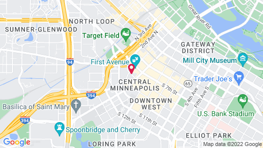 Hampton Inn & Suites Minneapolis / Downtown Map